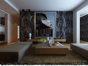 热门面积99平混搭三居客厅装修设计效果图片大全