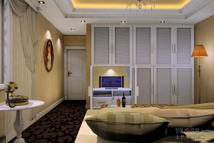 欧式现代卧室装修效果图 单张展示 宝龙空中别墅装修效果图 阿涛作品高清图片