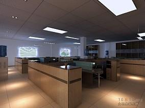 厂房办公楼办公区装修效果图