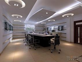 工厂办公楼会议室装修效果图