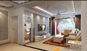 现代田园设计客厅窗帘图