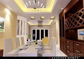 简欧风格别墅室内餐厅效果图片