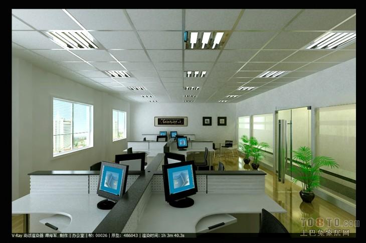 办公楼装修效果图 深圳市谭工设计工作室作品