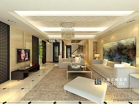 宜家风格复式楼客厅设计效果图