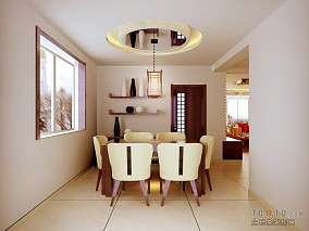 清漾一百平米三居室装修图