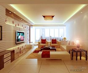 简美一百平米三居室装修图