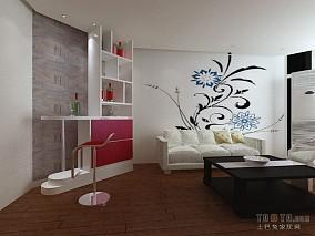 质朴39平混搭小户型客厅案例图