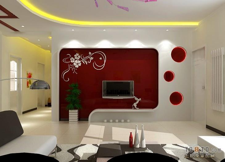 小区式住宅-现代风格客厅装修效果图图片