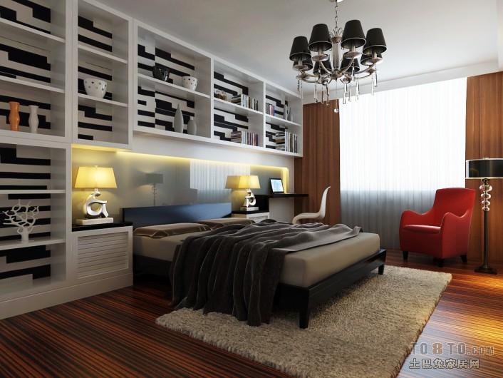 现代风格卧室装修效果图 单张展示 万科紫台装修效果图 周子航作品高清图片