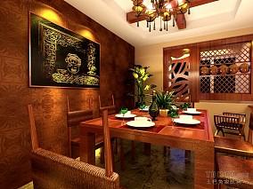 中式复古设计别墅装饰效果图片