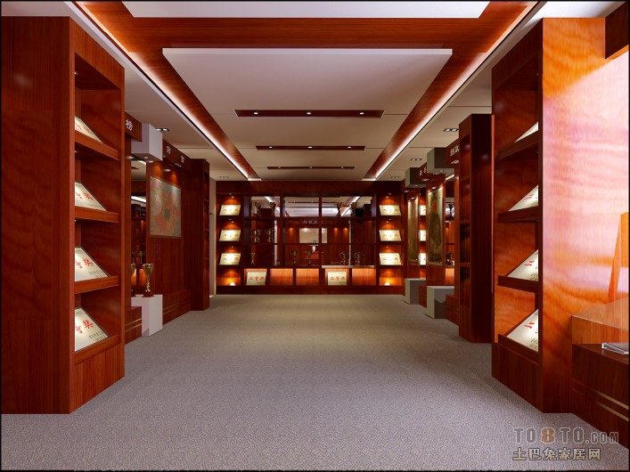 荣誉室 常见公装装修效果图 长沙装修施工队 长沙装修施工高清图片
