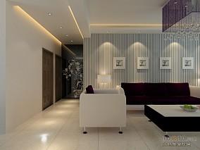 客厅与餐厅镂空隔断效果图