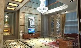 大气黑白现代简约客厅效果图