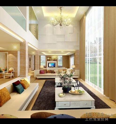 九龙·锦湖苑-欧式现代客厅装修效果图