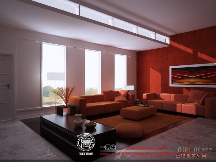 现代风格客厅装修效果图 农村平房改造装修效果图 老张作品高清图片