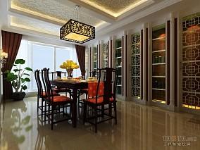 现代简约三居室餐厅装修案例