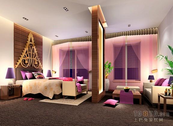 室内设计师 装修效果图 东南亚风格装修效果图 泰式主卧【整套案例】图片