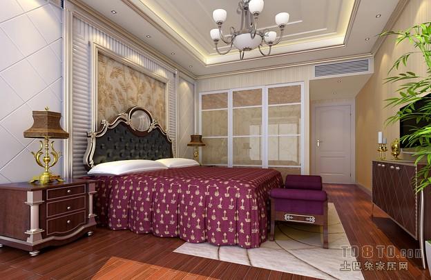 欧式现代卧室装修效果图图片