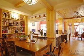精选面积124平田园四居餐厅装修图片欣赏