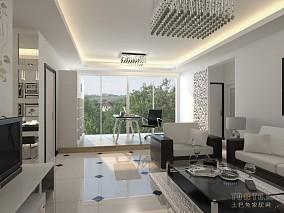2018精选137平米中式复式客厅装修效果图