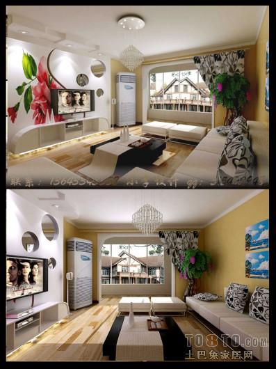 现代风格客厅装修效果图 单张展示 回龙观限价房地块装修效果图 李昭高清图片
