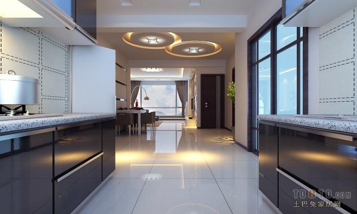 热门90平米二居厨房混搭装修欣赏图餐厅潮流混搭厨房设计图片赏析