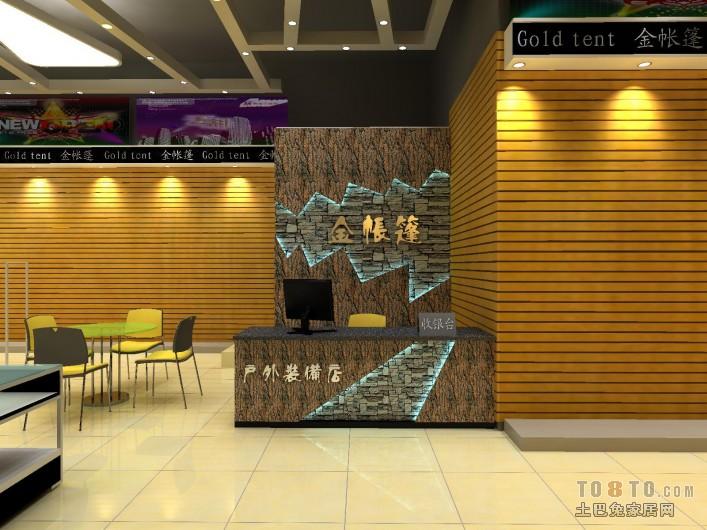 金帐篷南岭体育场分店树皮05购物空间设计图片赏析