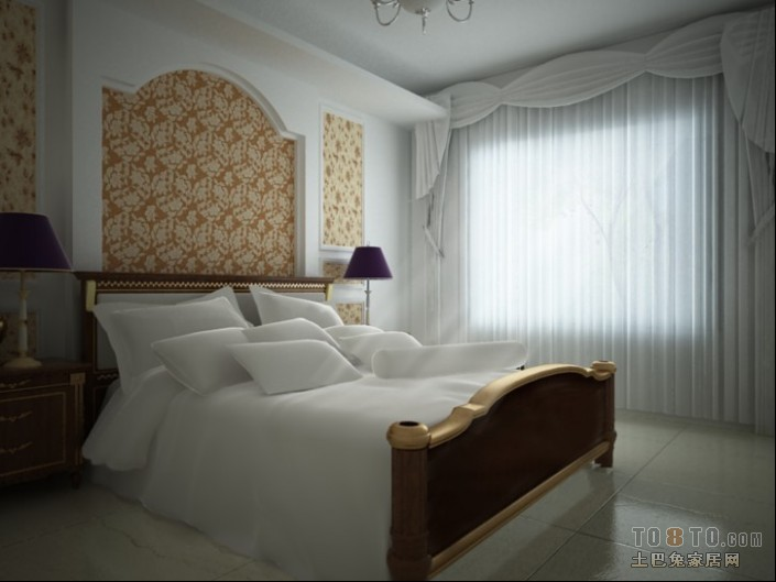 轻奢92平混搭四居卧室案例图卧室潮流混搭卧室设计图片赏析