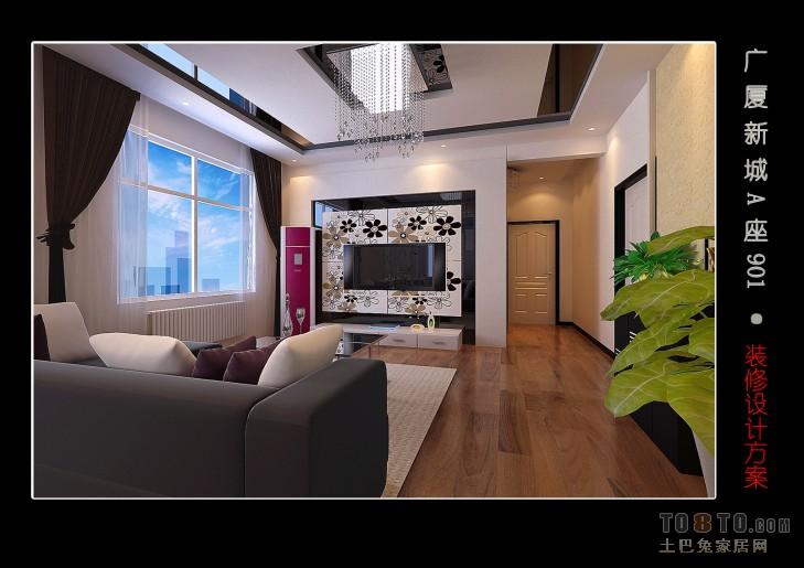 背景墙改客厅潮流混搭客厅设计图片赏析