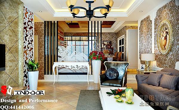 精选128平复式混搭装修图片客厅潮流混搭客厅设计图片赏析