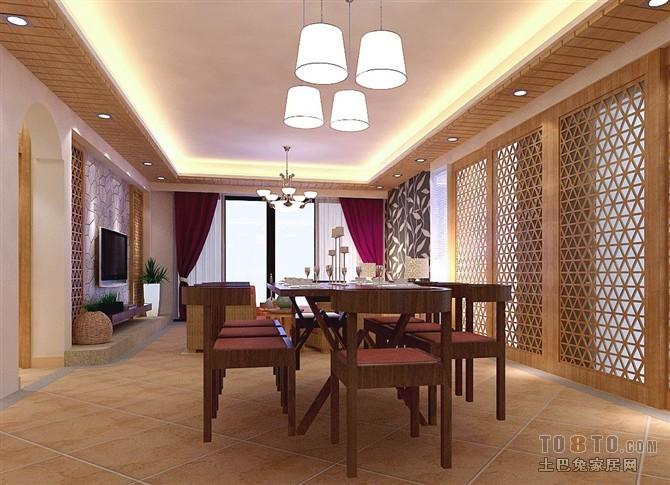 精美144平方四居餐厅混搭装修效果图片欣赏厨房潮流混搭餐厅设计图片赏析