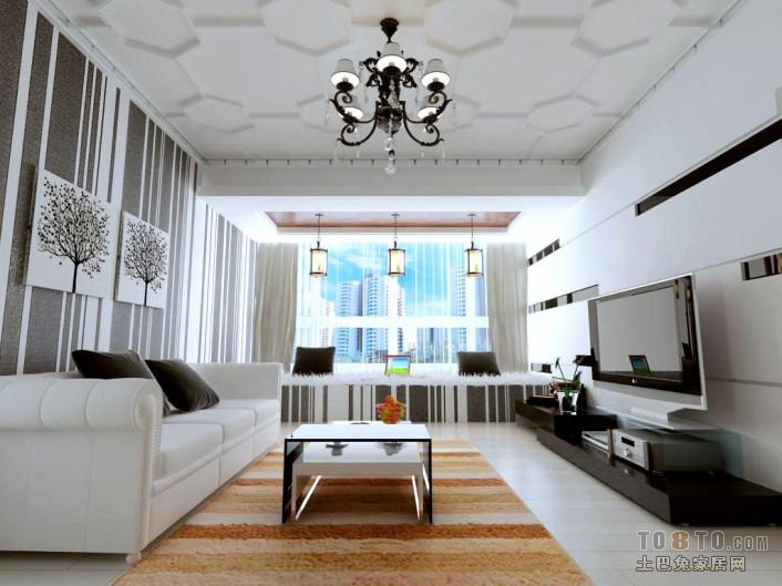 华丽86平混搭二居客厅装修图片客厅潮流混搭客厅设计图片赏析