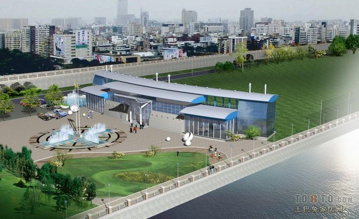 高尔夫球场鸟瞰图酒店空间其他设计图片赏析