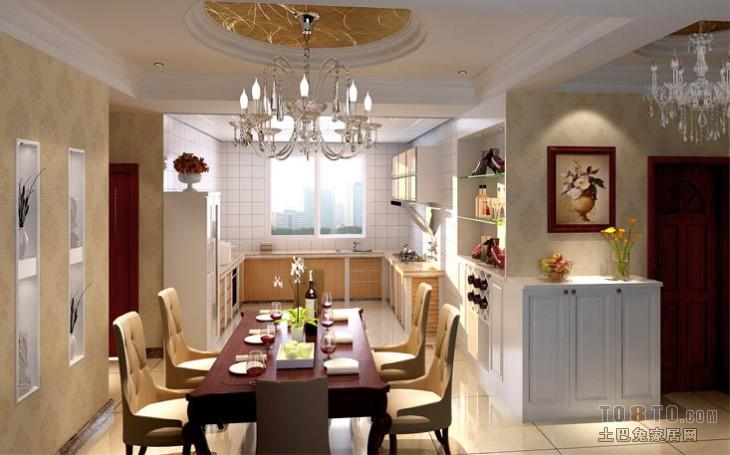 精选面积91平混搭三居餐厅设计效果图厨房潮流混搭餐厅设计图片赏析