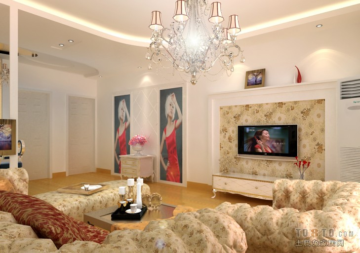华丽55平混搭二居客厅图片大全客厅潮流混搭客厅设计图片赏析