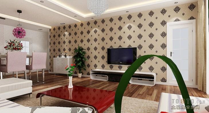 精选混搭3室客厅欣赏图98平客厅潮流混搭客厅设计图片赏析