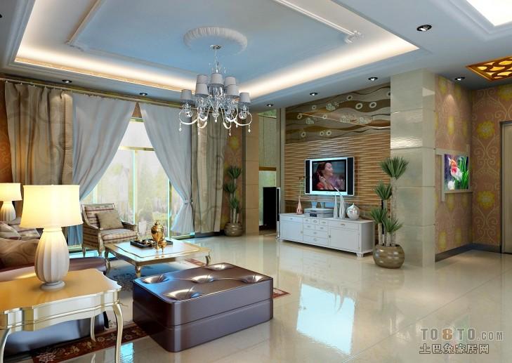精美混搭3室客厅效果图片98平客厅潮流混搭客厅设计图片赏析