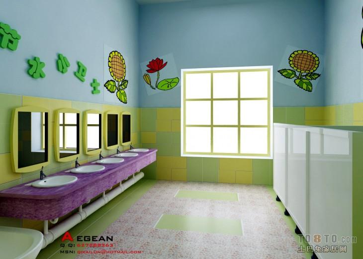 幼儿园 卫生间改造-文化科研装修效果图