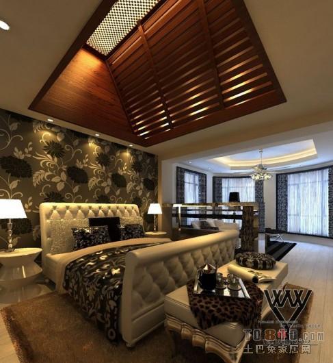 3F卧室床向窗外角度卧室潮流混搭卧室设计图片赏析