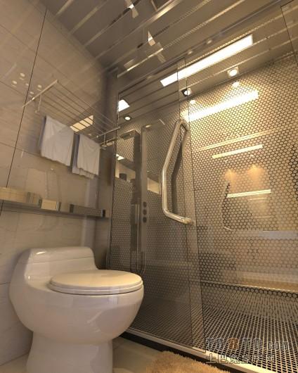 混搭风卫生间淋浴房装修效果图卫生间潮流混搭卫生间设计图片赏析