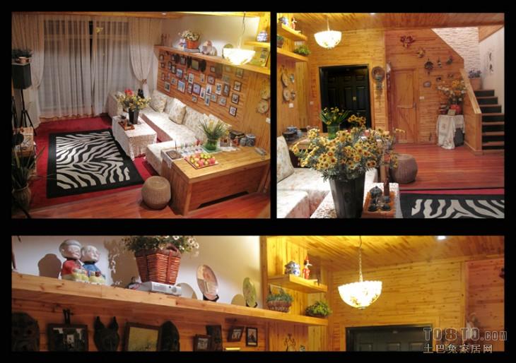 温馨67平混搭复式客厅效果图欣赏客厅潮流混搭客厅设计图片赏析
