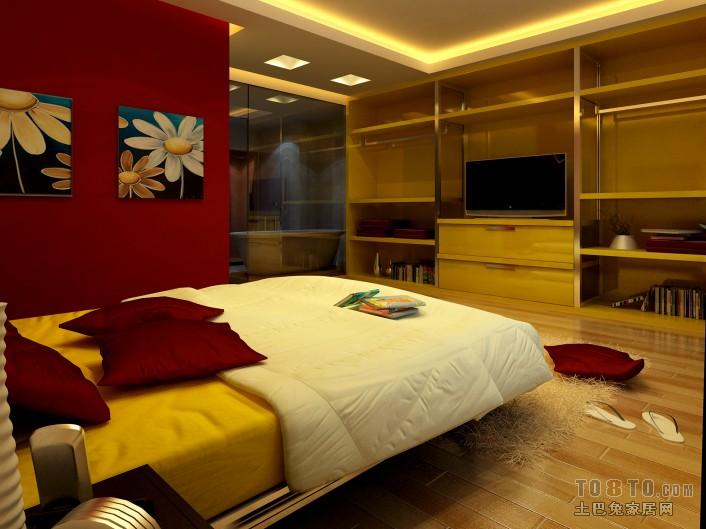 简洁118平混搭三居卧室装修效果图卧室潮流混搭卧室设计图片赏析