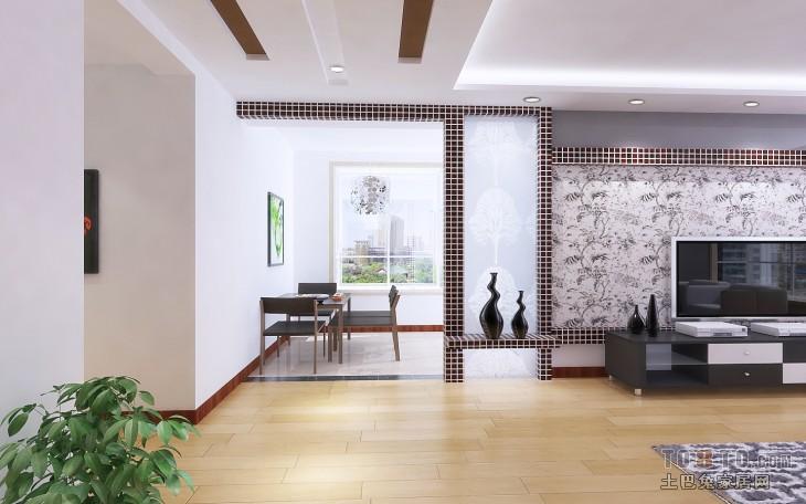 轻奢92平混搭三居餐厅装修效果图厨房潮流混搭餐厅设计图片赏析