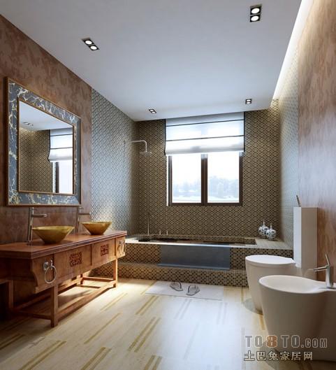 典雅111平混搭四居卫生间装修设计图卫生间潮流混搭卫生间设计图片赏析
