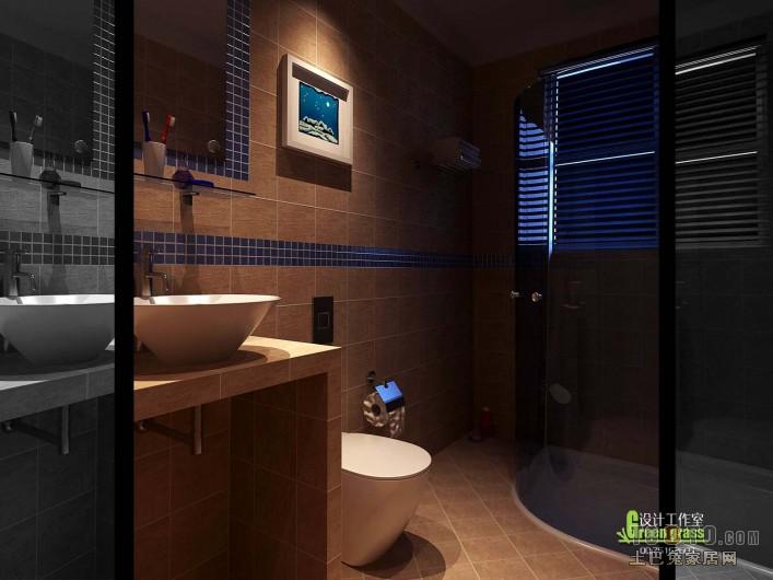 2018精选83平米二居卫生间混搭装修设计效果图片大全卫生间潮流混搭卫生间设计图片赏析