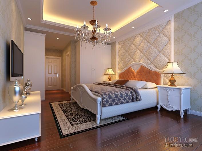 典雅124平混搭三居卧室案例图卧室潮流混搭卧室设计图片赏析