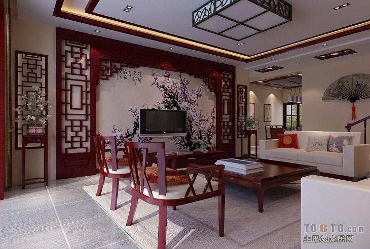 效果图  古典中式客厅装修成什么样比较好答:这个装修风格的根据你的