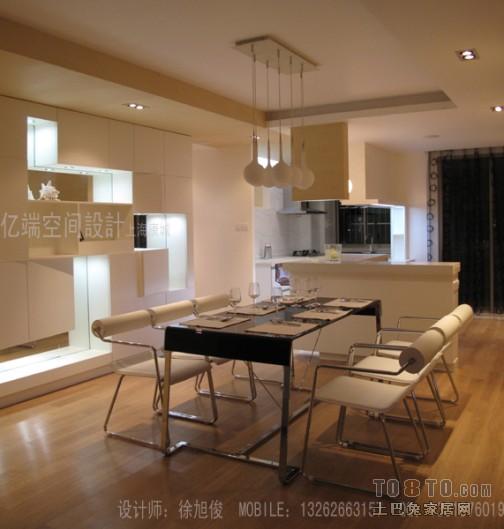 精美107平米三居餐厅混搭装修设计效果图厨房潮流混搭餐厅设计图片赏析