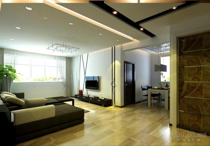 热门混搭3室设计效果图109平客厅潮流混搭客厅设计图片赏析