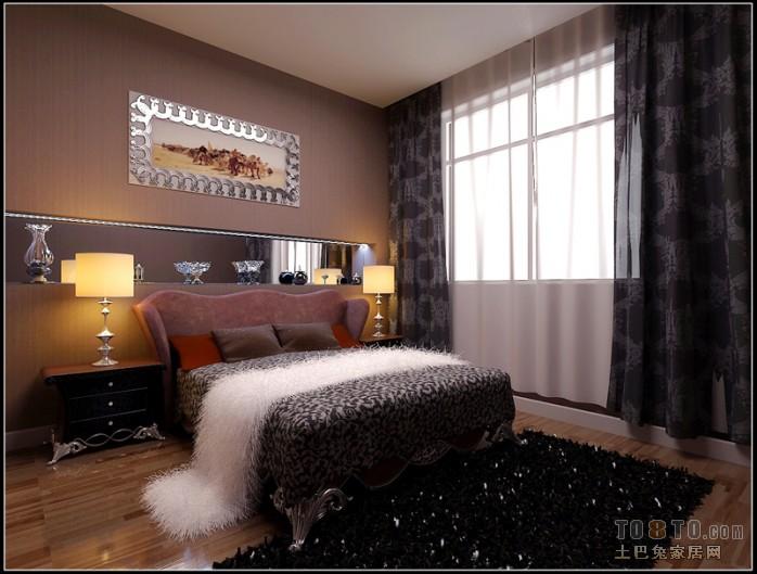 浪漫55平混搭二居卧室案例图卧室潮流混搭卧室设计图片赏析
